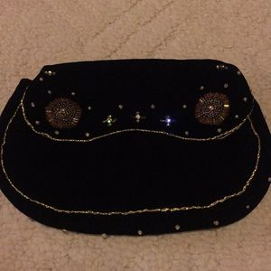 Handbags - Velvet Clutch